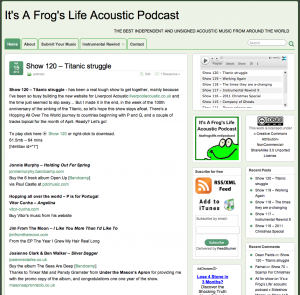 It's A Frog's Life Acoustic Podcast - April 2012